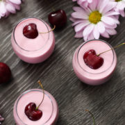 Skinny Cherry Lassi Shooters