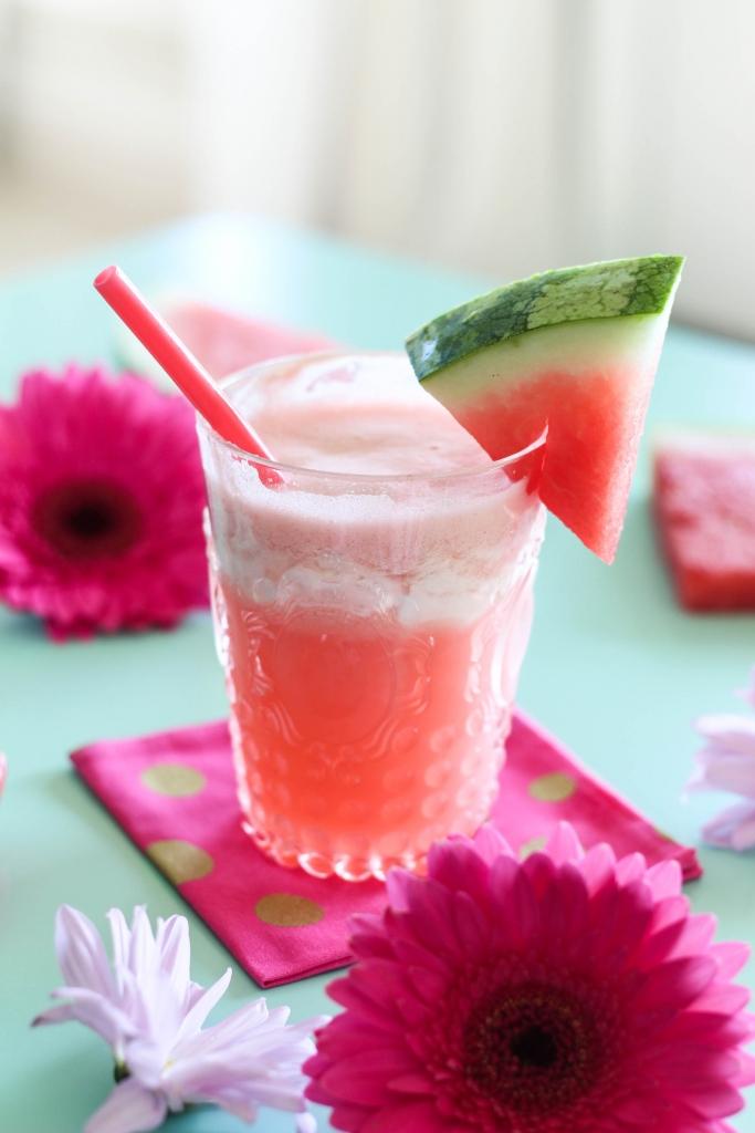 Watermelon Cream Fizz 683x1024 - Watermelon Cream Fizz Cocktail