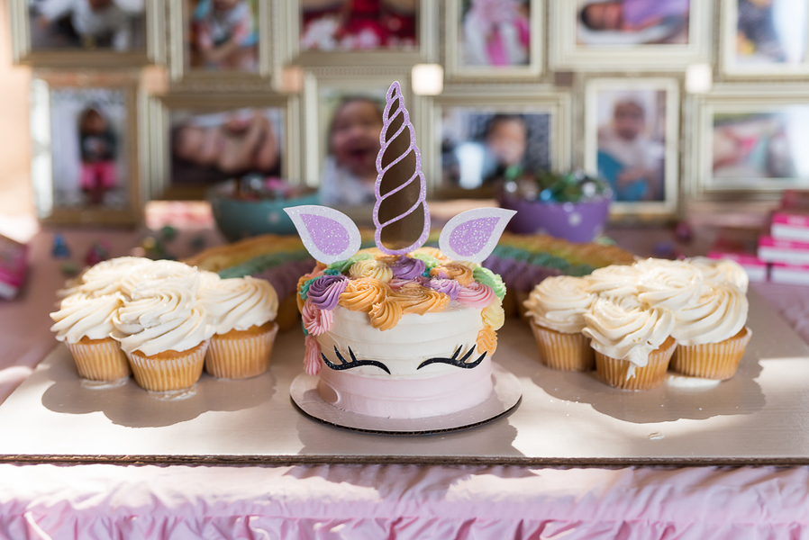 Rainbow Unicorn Birthday Dessert Table |