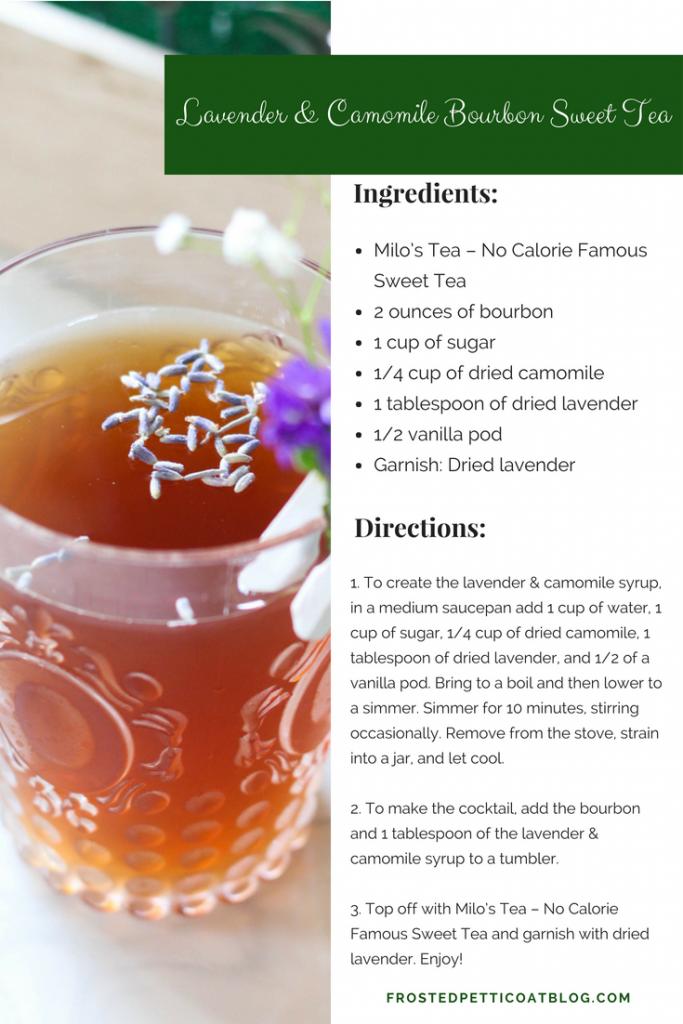 Recipe Card Lavender Camomile Bourbon Sweet Tea 683x1024 - Classic Rewind: Lavender & Camomile Bourbon Sweet Tea