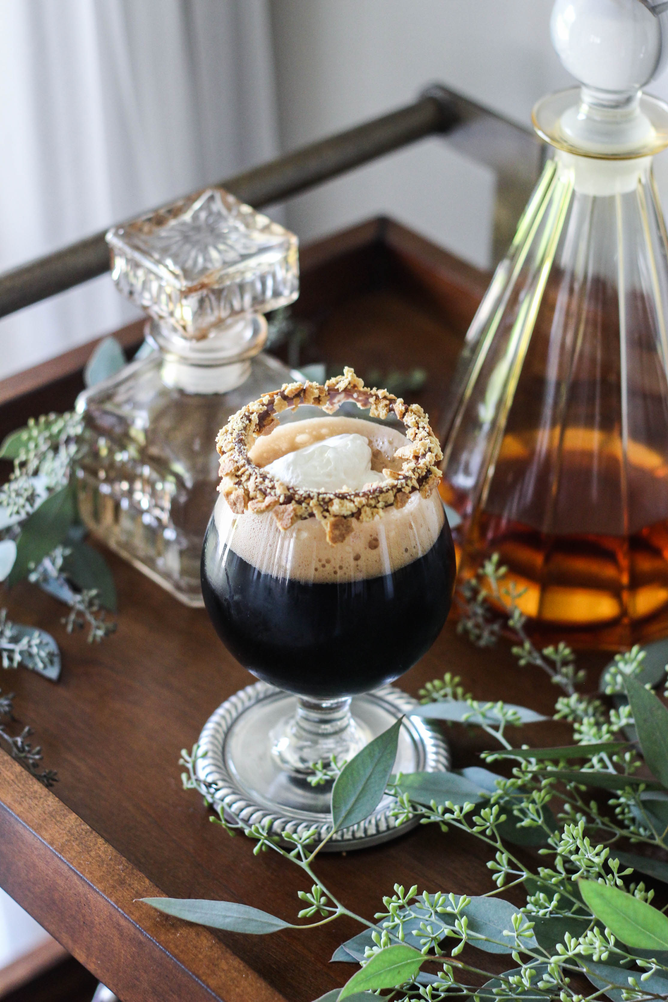 Campfire Stout Cocktail by Liquor.com Contributing Writer The Frosted Petticoat