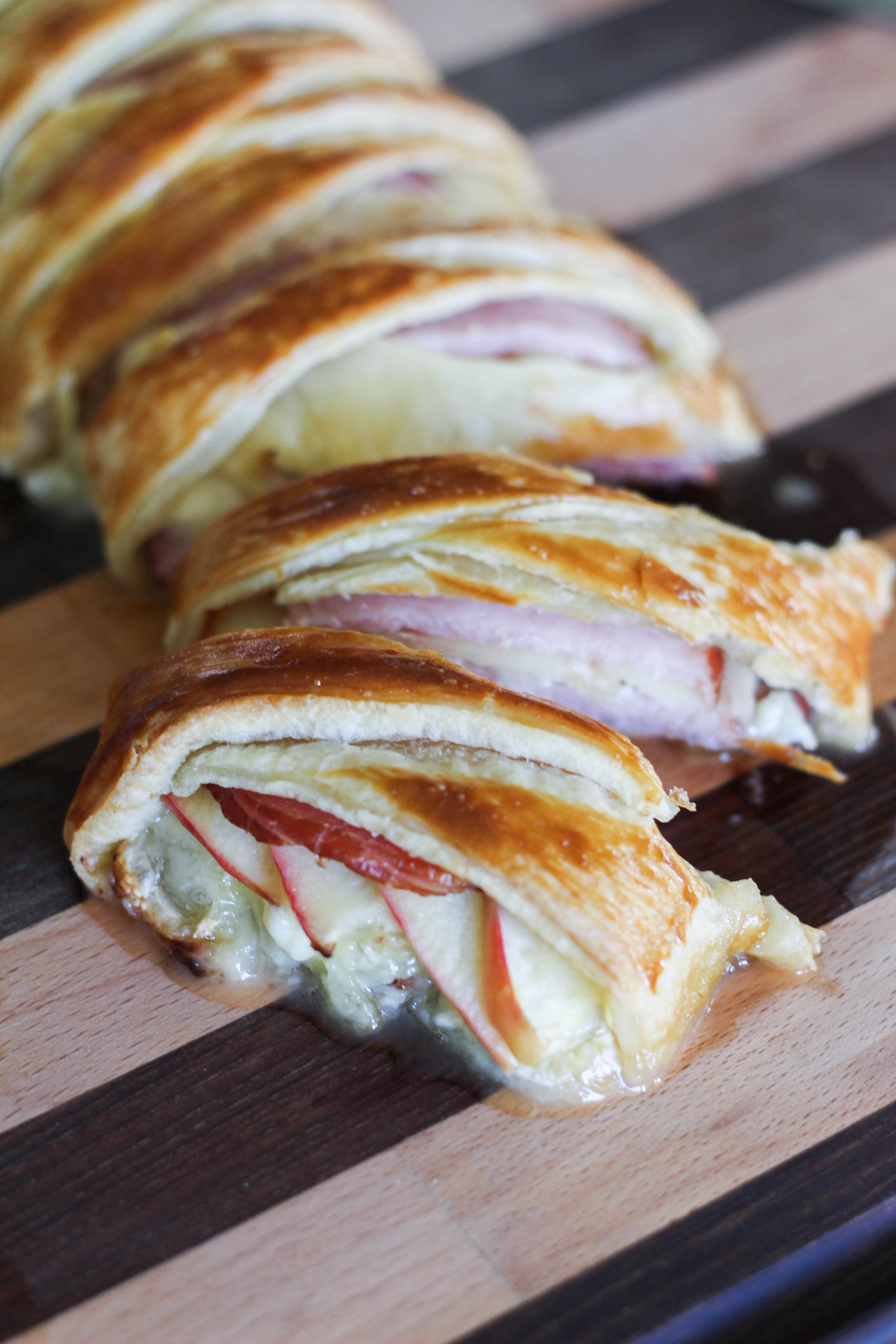 Braided Ham & Brie Stuffed Pastry
