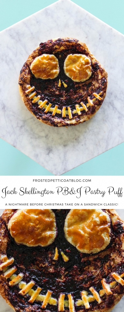 Jack Skellington PB & J Pastry Puff - Nightmare Before Christmas Halloween Recipe
