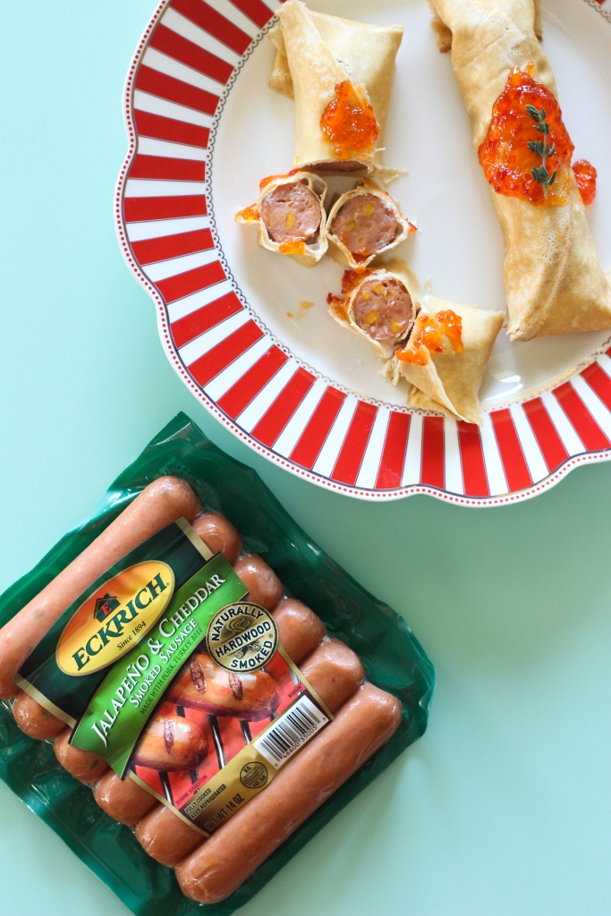 Jalapeno Cheddar Pigs in a Crepe Pancake 17 683x1024 - Easy & Cheesy Jalapeño Cheddar Pigs in a Crepe Blanket