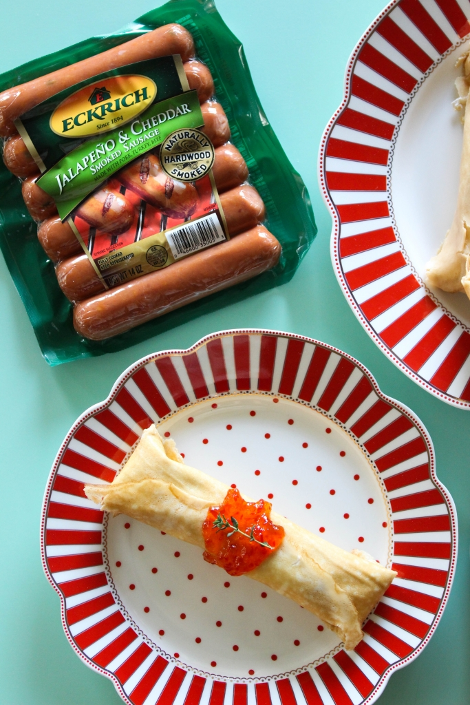 Jalapeno Cheddar Pigs in a Crepe Pancake 9 683x1024 - Easy & Cheesy Jalapeño Cheddar Pigs in a Crepe Blanket