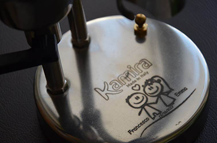 Kamira Engraved Espresso Maker 2 - Custom Holiday Gifting with Amazon Handmade