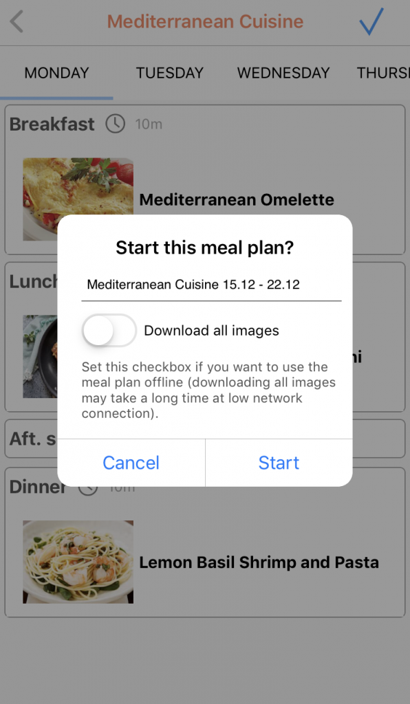 Recipe Calendar Meal Planning App Review 4 596x1024 - Last Minute Foodie Gift: Recipe Calendar App!