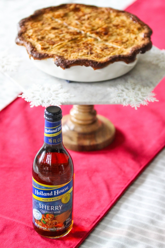 Sherry Date Meat Pie with Holland House Cooking Wine