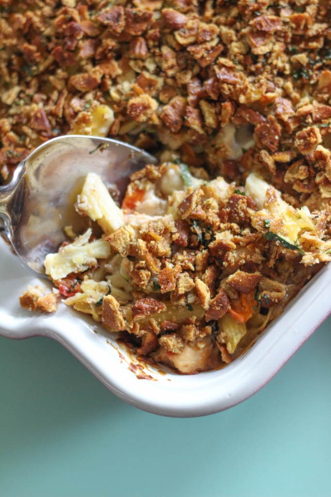 Chicken Mushroom Casserole with Pretzel Crumble 9 683x1024 - Hearty Winter Casserole