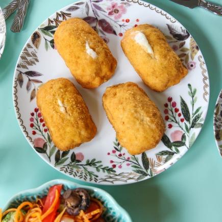 30-Minute Meal - Chicken Cordon Bleu + Roasted Veggies