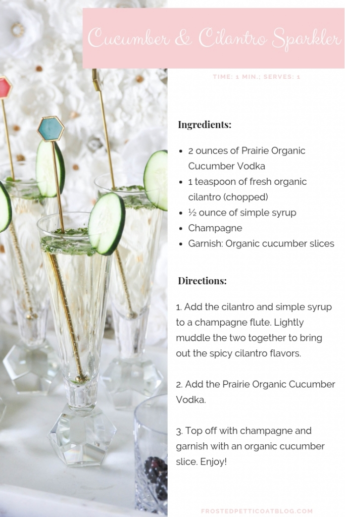 Cucumber Cilantro Sparkler Cocktail Recipe 683x1024 - 2 Essential Organic Cocktail Party Drinks