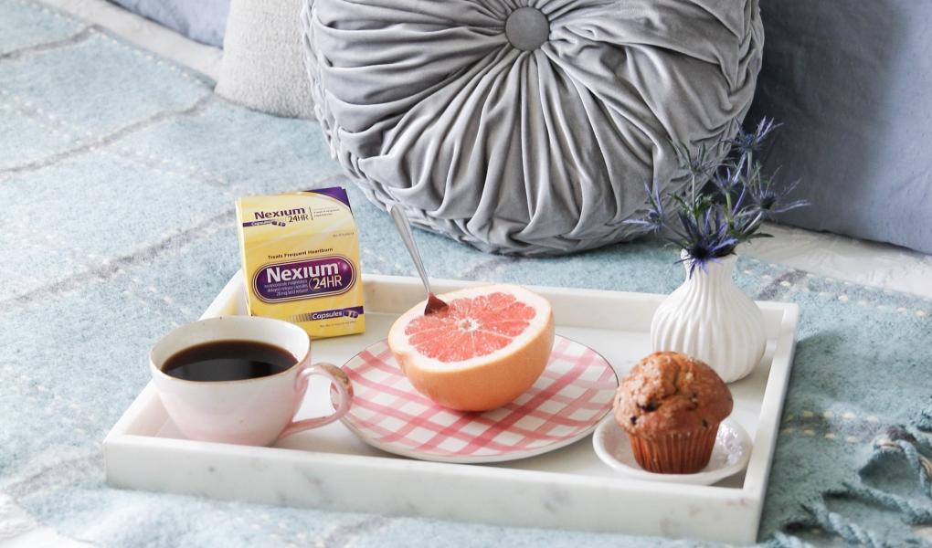 Citrus, rosé, & coffee with Nexium 24HR