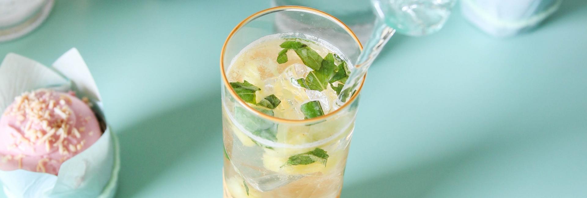 Organic Pineapple Basil Cocktail + Dessert Pairing