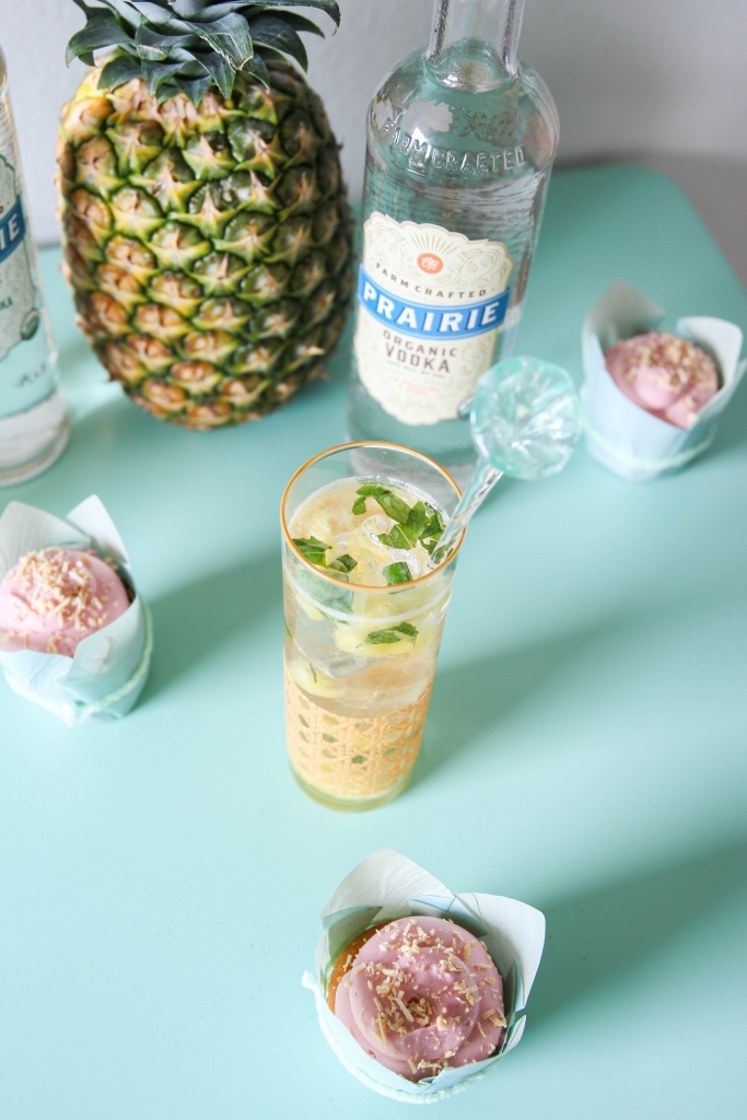 Organic Pineapple Basil Cocktail Dessert Pairing 7 683x1024 - Organic Pineapple Basil Cocktail + Dessert Pairing