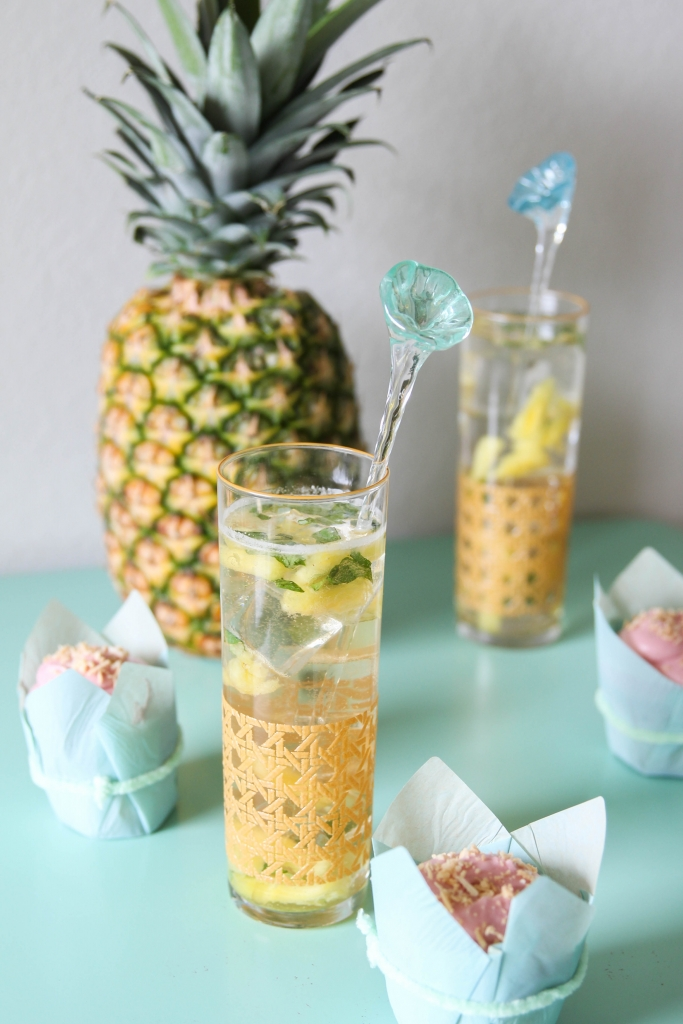 Organic Pineapple Basil Cocktail + Dessert Pairing