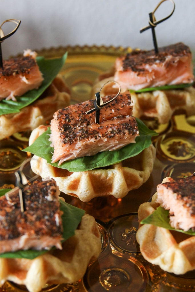 Spiced Salmon & Waffles with Cedar Bay Grilling