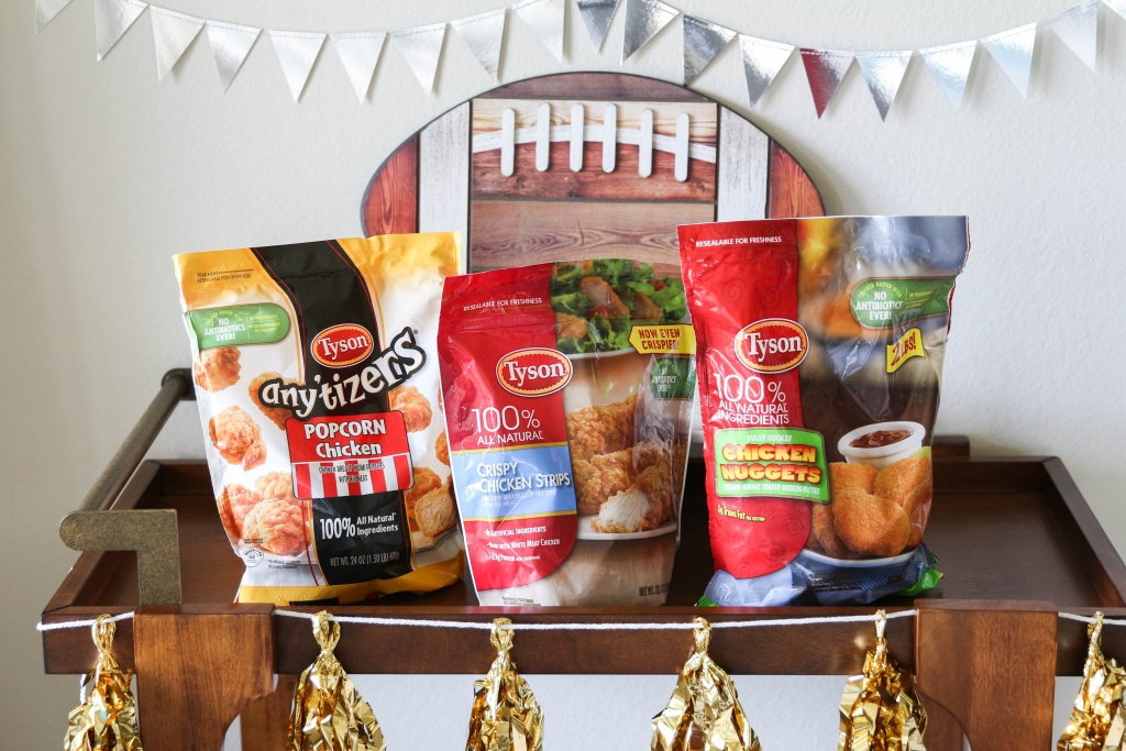 Gameday Chicken Bar for Football Season with Tyson Products at HEB
