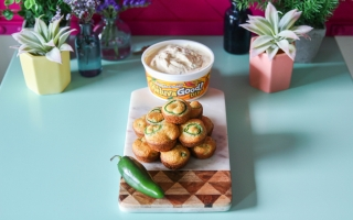 Jalapeño Cornbread Bites + Heluva Good! Dip