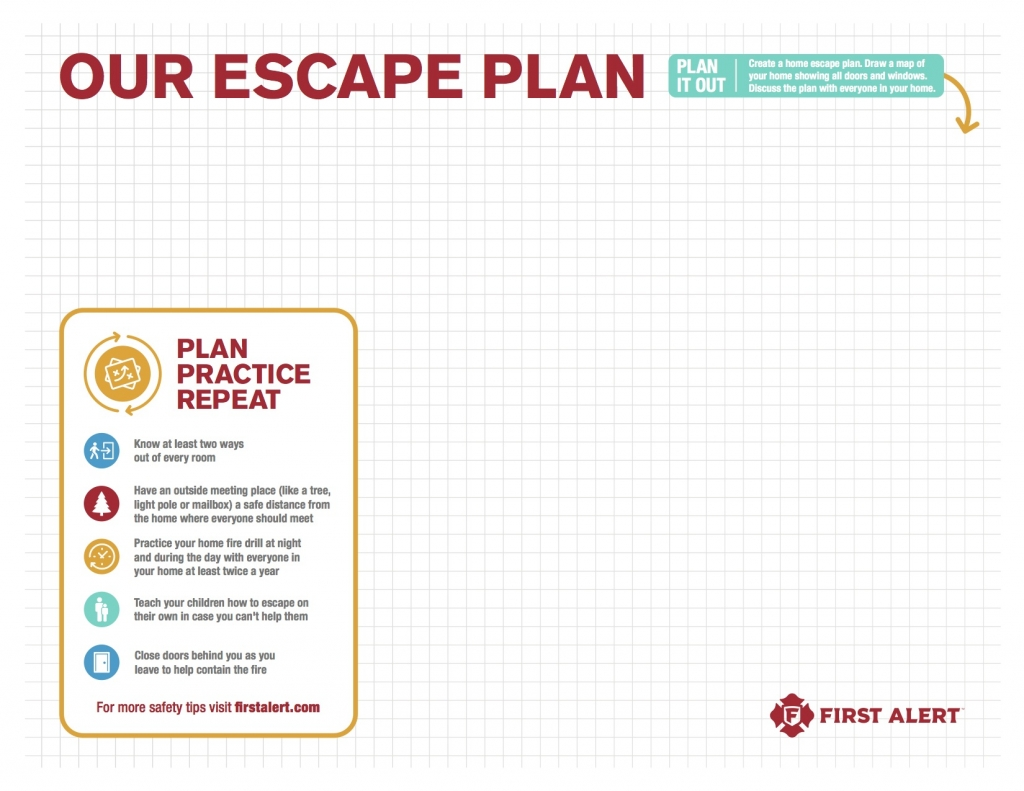 Our Escape Plan copy 1024x791 - Home Essentials: Emergency Escape Plan with First Alert
