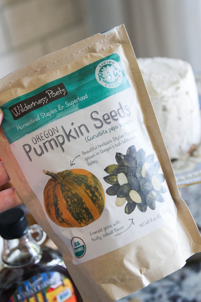 Autumn Date Cake with Clove Buttercream and a Salted Maple Pumpkin Seed Topping with iHerb 10 683x1024 - Autumn Date Cake