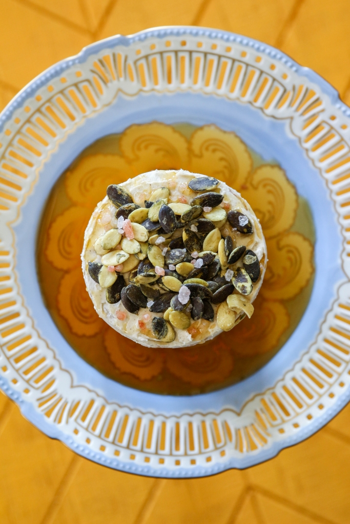 Autumn Date Cake with Clove Buttercream and a Salted Maple Pumpkin Seed Topping with iHerb 16 683x1024 - Autumn Date Cake
