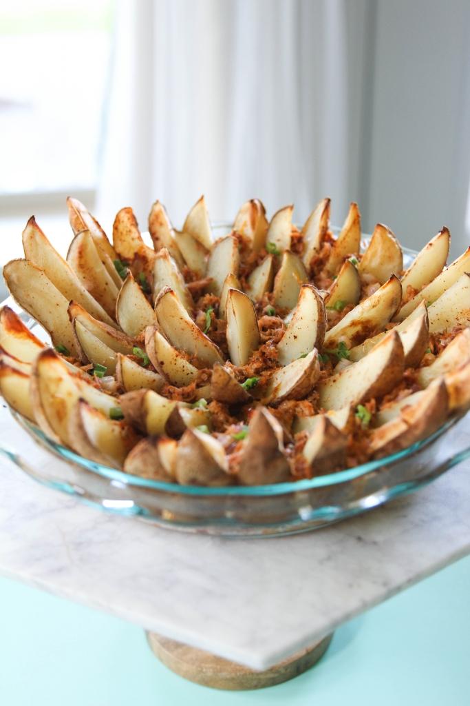 Blooming Tuna Potato Wedge Pie