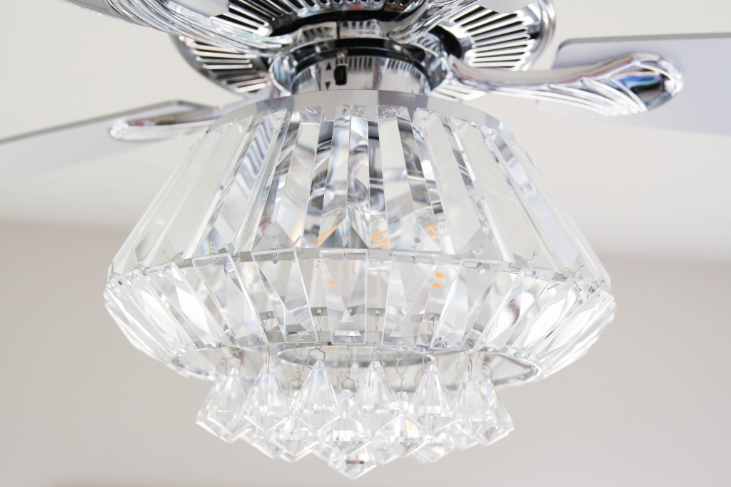 Crystal Chandelier Ceiling Fan The Frosted Petticoat 10 1024x683 - Home & Design: Crystal Chandelier Fan