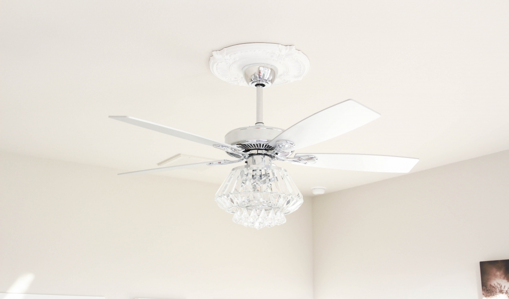 Crystal Chandelier Ceiling Fan - The Frosted Petticoat