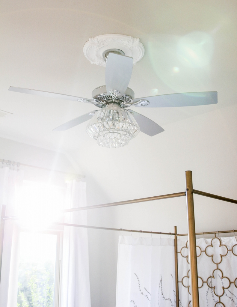 Crystal Chandelier Ceiling Fan The Frosted Petticoat 3 791x1024 - Home & Design: Crystal Chandelier Fan