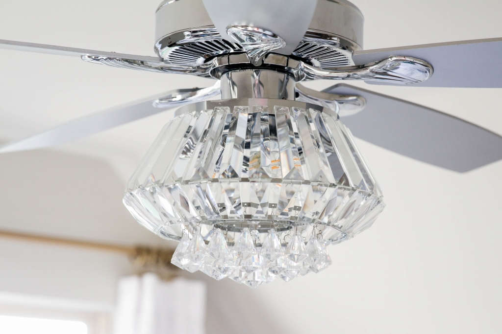 Crystal Chandelier Ceiling Fan The Frosted Petticoat 6 1024x683 - Home & Design: Crystal Chandelier Fan