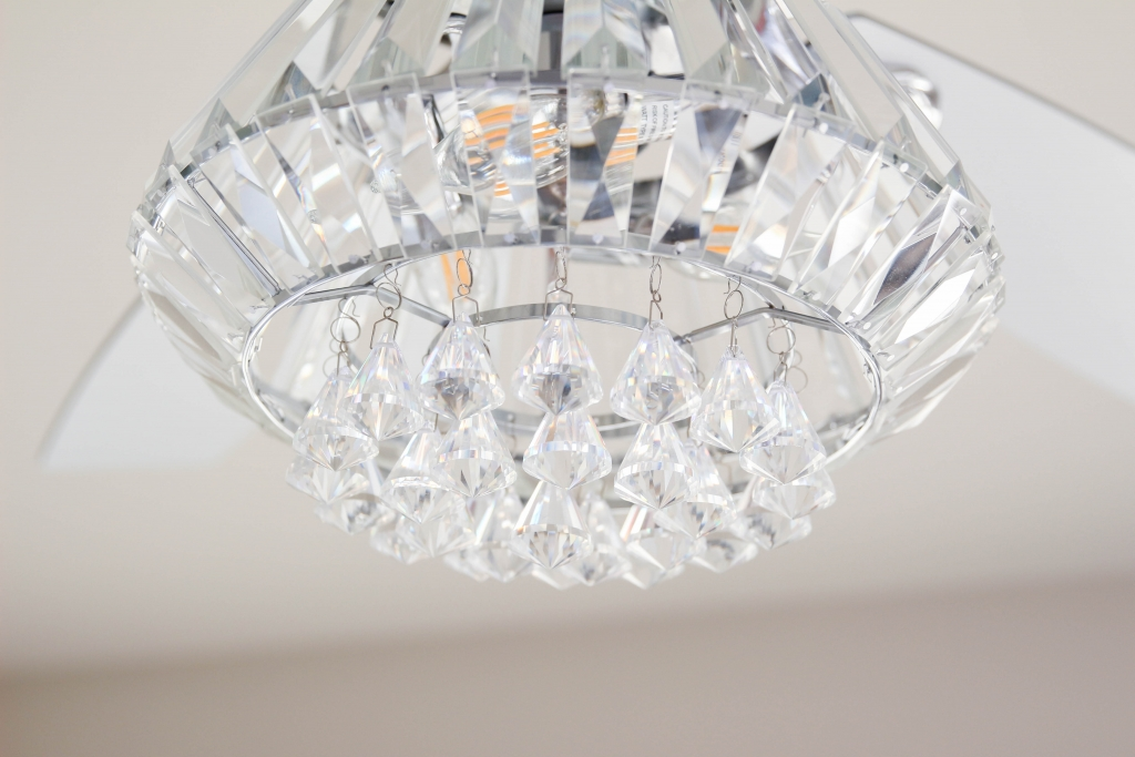 Crystal Chandelier Ceiling Fan The Frosted Petticoat 8 1024x683 - Home & Design: Crystal Chandelier Fan