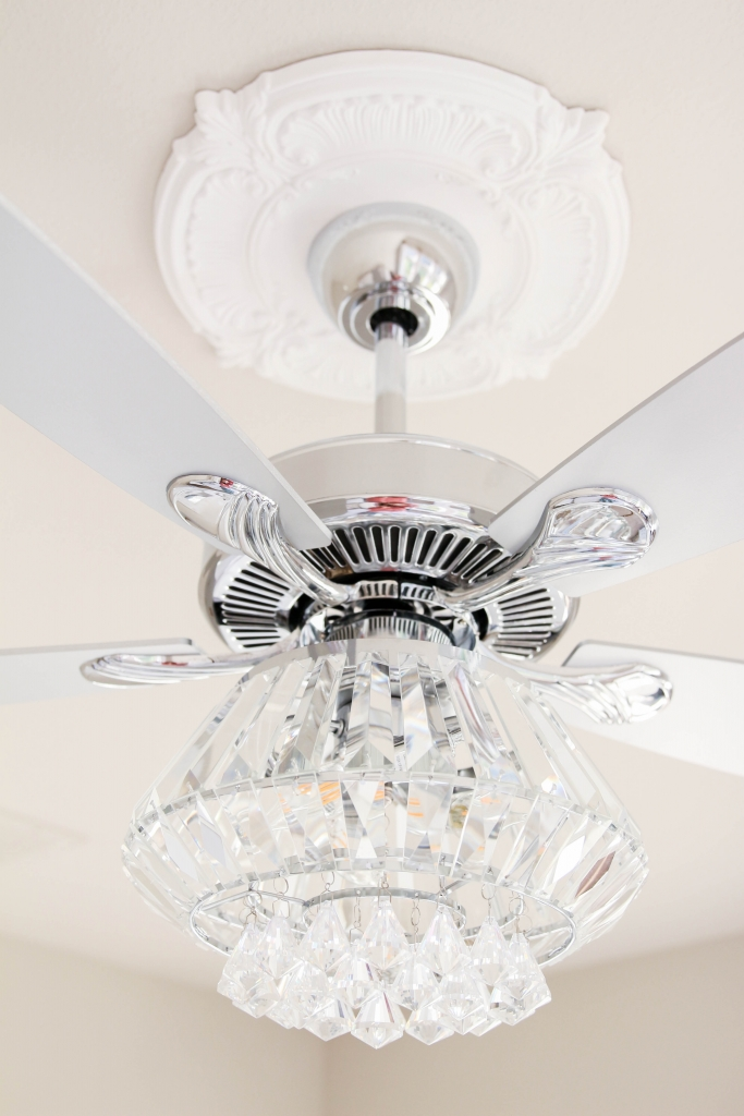 Crystal Chandelier Ceiling Fan The Frosted Petticoat 9 683x1024 - Home & Design: Crystal Chandelier Fan