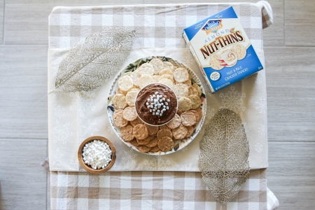 Hot Cocoa Dessert Hummus + Blue Diamond Nut-Thins