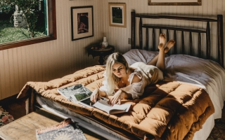 photo of woman reading book on bed 3021351 320x200 - Cozy And More Comfortable: Making Your Home Feel Just Right