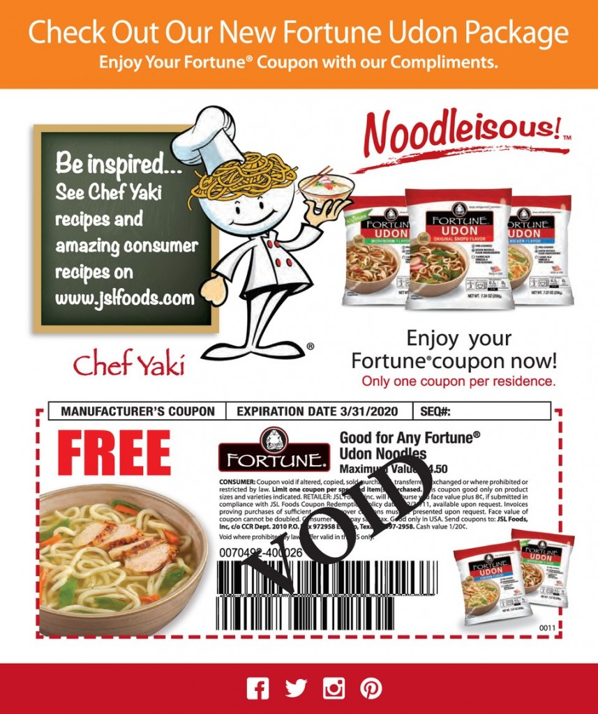 Fortune coupon 857x1024 - Springtime Udon Soup Tasters