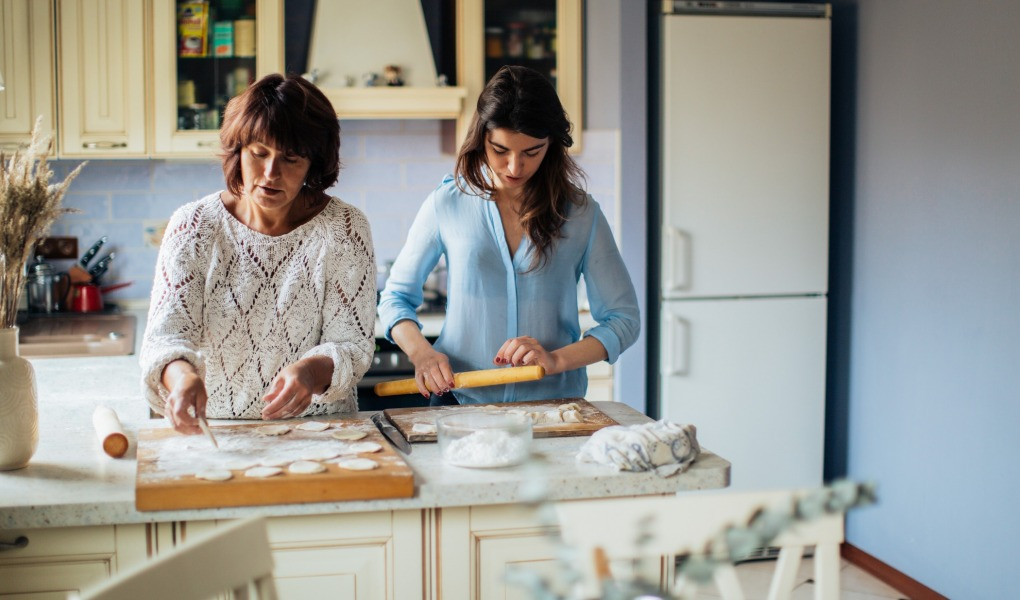 women making dumplings in the kitchen 3893527 1020x600 - The Coronavirus Positivity Post: What's Keeping You Smiling Though The Pandemic?
