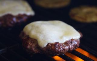 Hawaiian Havarti BBQ Bison Burgers with Castello Cheese