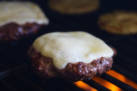 Hawaiian Havarti BBQ Bison Burgers with Castello Cheese