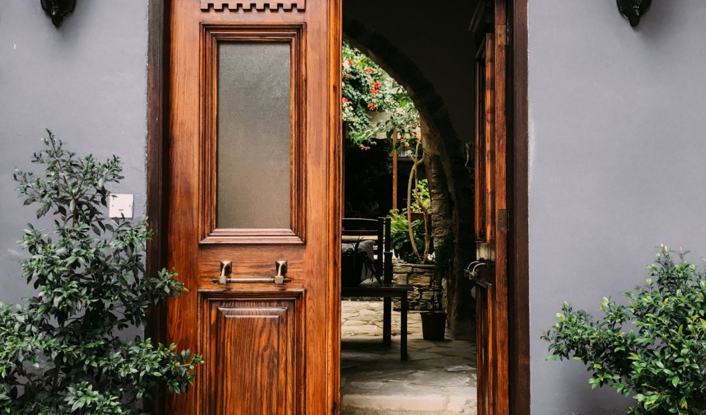 opened brown wooden french door 1544420 1 1020x600 - 5 Ways To Expand Your Living Space