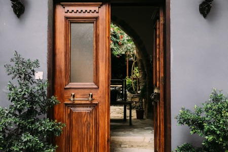 opened brown wooden french door 1544420 1 450x300 - 5 Ways To Expand Your Living Space
