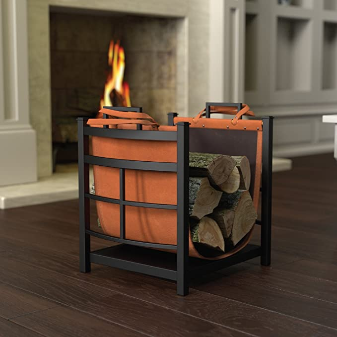 Log Bin with Log Carrier - Autumn Essentials Every Homeowner Needs!