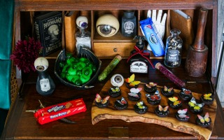 Witch's Apothecary Halloween Dessert Table