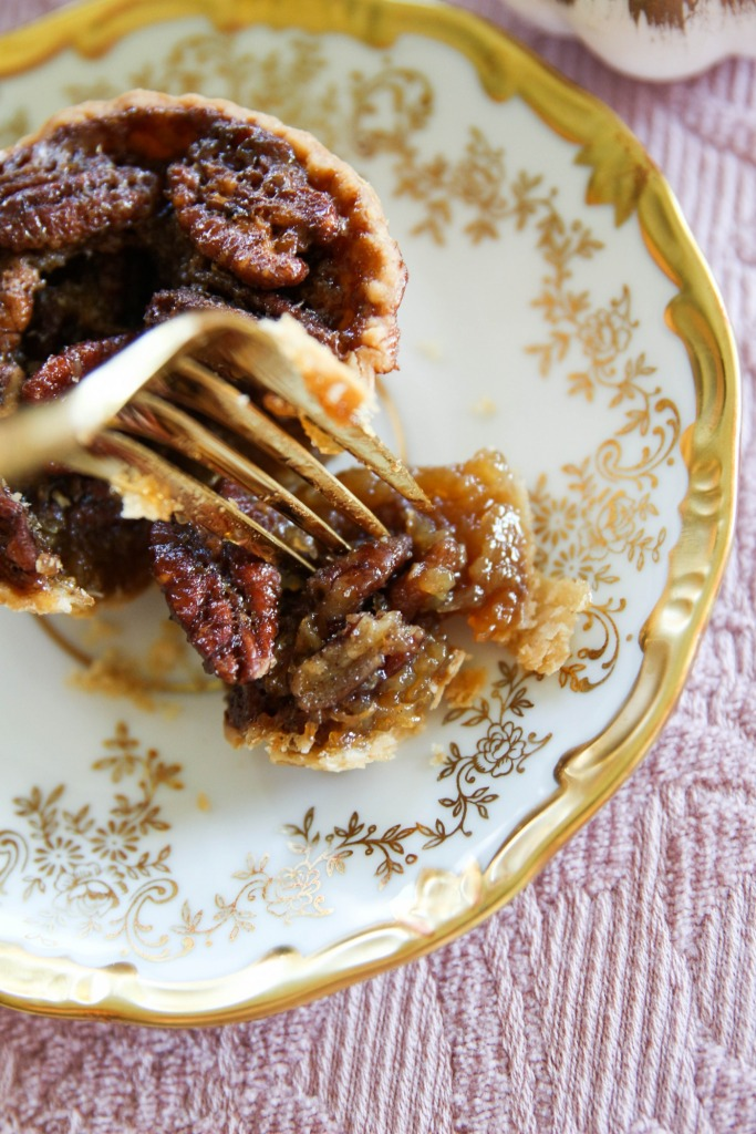 Mini Stout Pecan Pies with Karo Syrup The Frosted Petticoat 24 683x1024 - Mini Stout Pecan Pies
