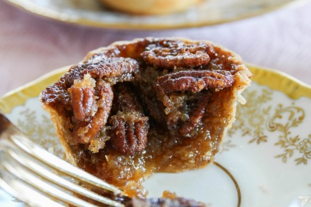 Mini Stout Pecan Pies with Karo Syrup