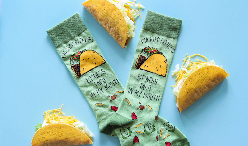 Nerdy Shirts Taco Socks