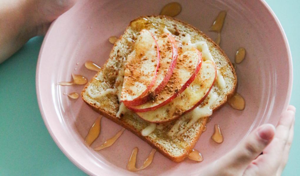 Spiced Gruyere & Honey Apple Organic Toast